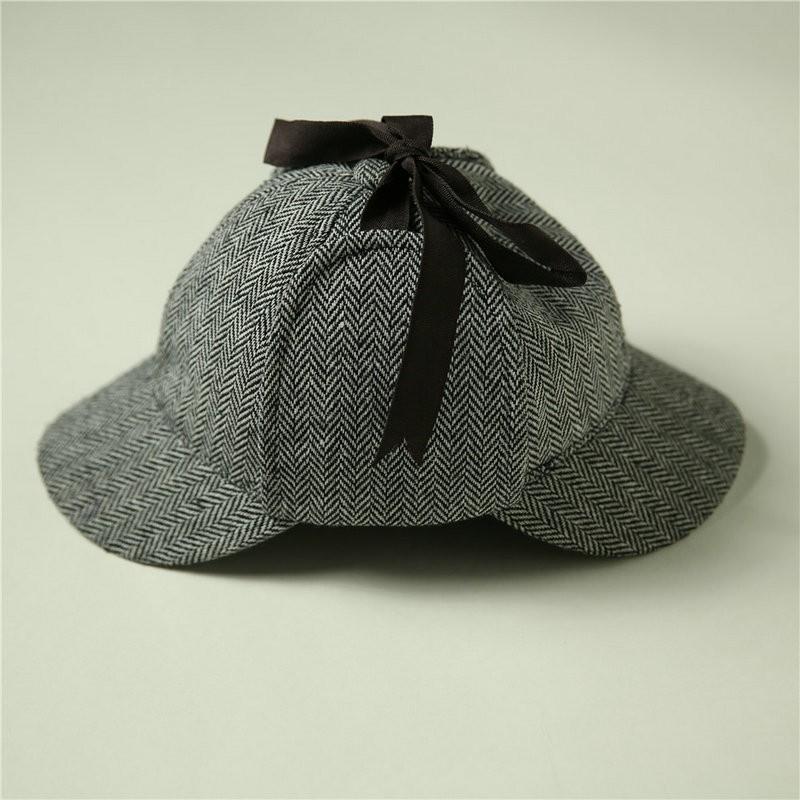 Cosplay Sherlock Holmes Cap Detective Hat Doctor Costume Adult Deerstalker Houndstooth4