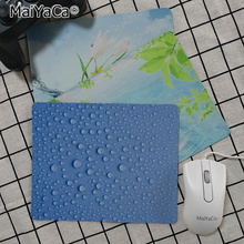 цена на MaiYaCa  Water drops and flowers Customized laptop Gaming mouse pad Rubber PC Computer Gaming mouse pad