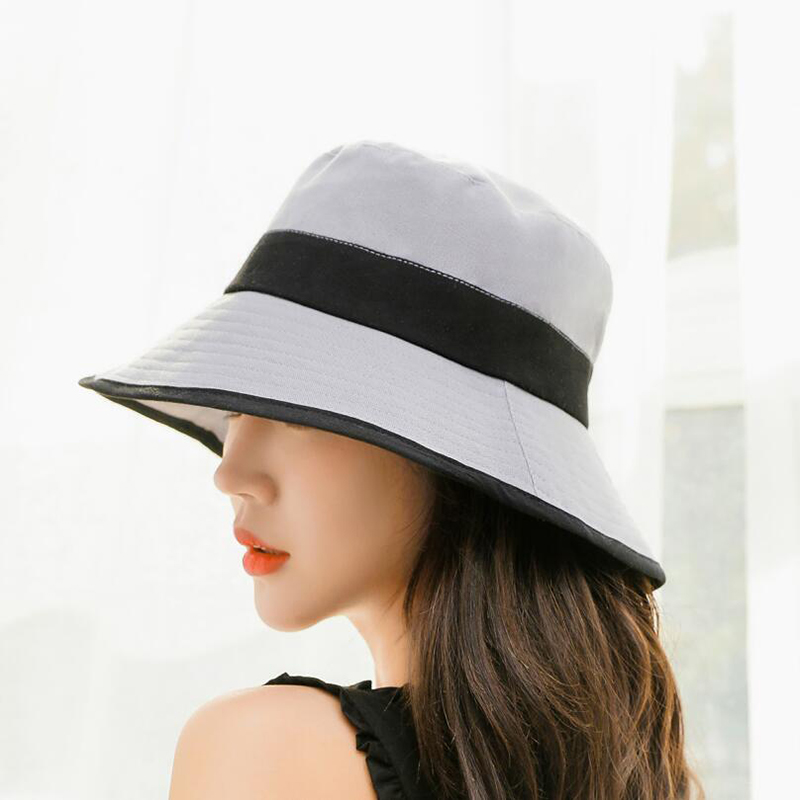 BINGYUANHAOXUAN Women Bucket Hat Summer Solid Color Sun Hat Fishing Boonie Hat UV Protection Bob Hiking Outdoor Sports Hat