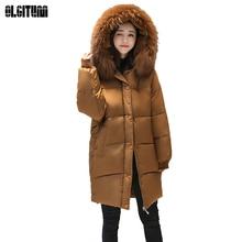 Winter Jacket Women Worm Coat Female Jacket 2018 New Fashion Big Hair Collar Clothes Big Size CC336