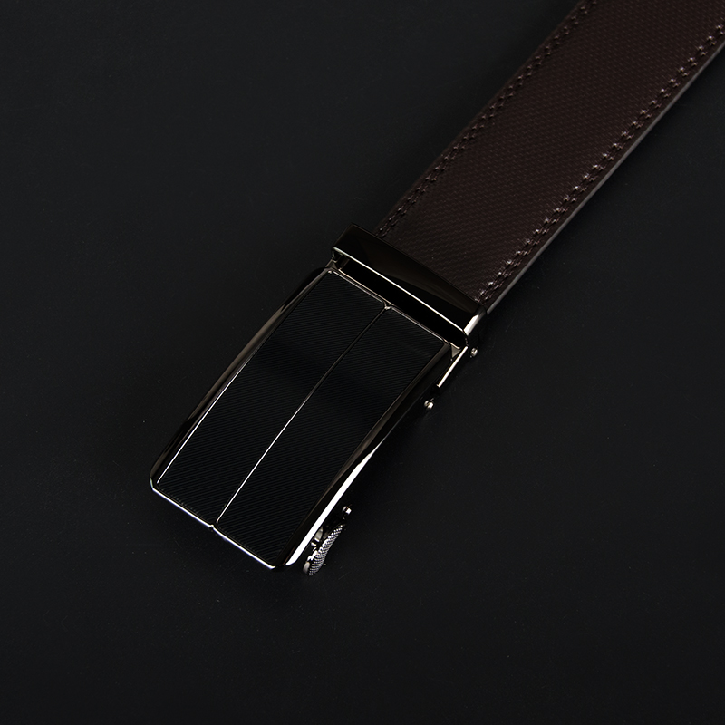 Cow Genuine Leather Mens Belt Cowhide Strap Automatic Buckle Alloy Buckle Belts