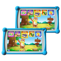 Kids Tablet, B.B.PAW 7 inch 1G+8G Android 6.0 Tablet with 120+ Learning&Training Apps 2 Packs