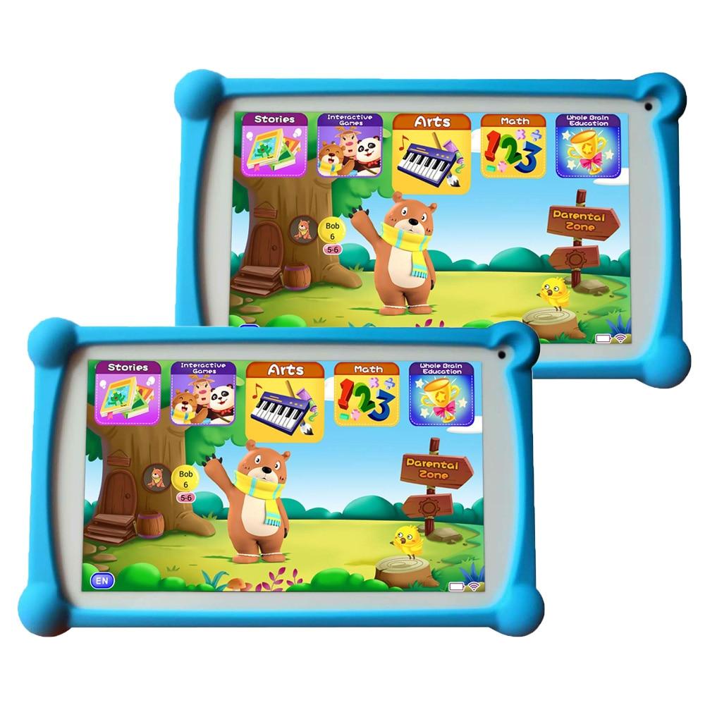 Tablette pour enfants, B. B. PAW 7 pouces 1G + 8G tablette Android 6.0 avec + de 120 Packs de Apps-2 d'apprentissage et d'entraînement