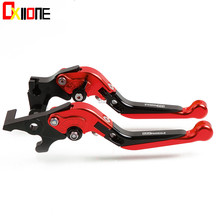 6 Colors CNC Motorcycle Adjustable Brake Extendable Clutch Levers Set For Ducati 899 Panigale 2014-2015 UP with logo