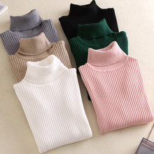 Dijual 2019 Musim Gugur Musim Dingin Wanita Rajutan Turtleneck Sweater Kasual Lembut Polo-Neck Jumper Fashion Slim Femme Elastisitas Pullovers(China)