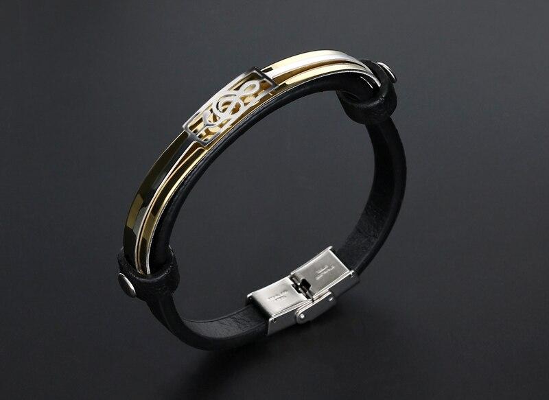 liujun Treble Clef Stainless Steel Musical Bracelet 6