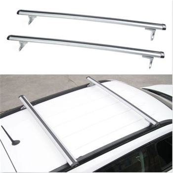 2pcs Car Roof Aluminum Baggage Luggage Rack Crossbar Overhead Iron Foot For Jeep Compass 2017 Styling Accessories Silver Color