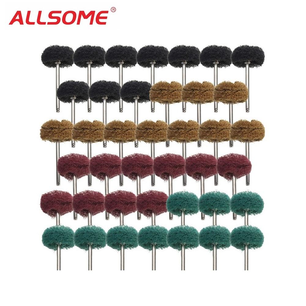 25mm 40x 1/'/' Abrasive Grinding Buffing Polishing Wheel For Rotary Tool
