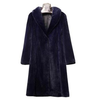Long Section Womens Slim Fake Fur Jackets Fake Velvet Mink Fur Coats Large Size High Quality Winter Warm Fake Fur Outwears K881