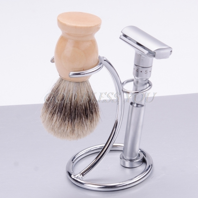 1pc Men Shaving Razor Stand Shaving Brush Stand Shaving Razor and Brush holder 1