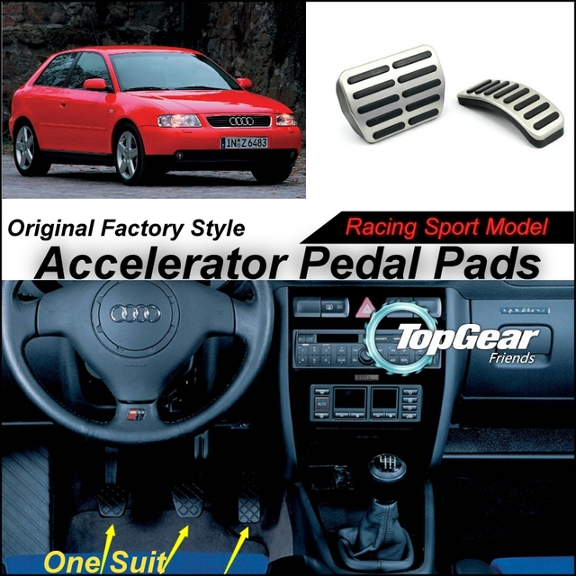 Car Accelerator Pedal Pad / Cover of Original Factory Sport Racing Model Design For Audi A3/S3 (8L) 1995~2003 Tuning