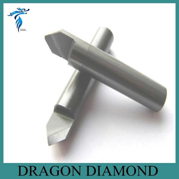 Free Shipping 60 Degree 6MM Marble Granite CNC Diamond Engraving Bit Router Bit