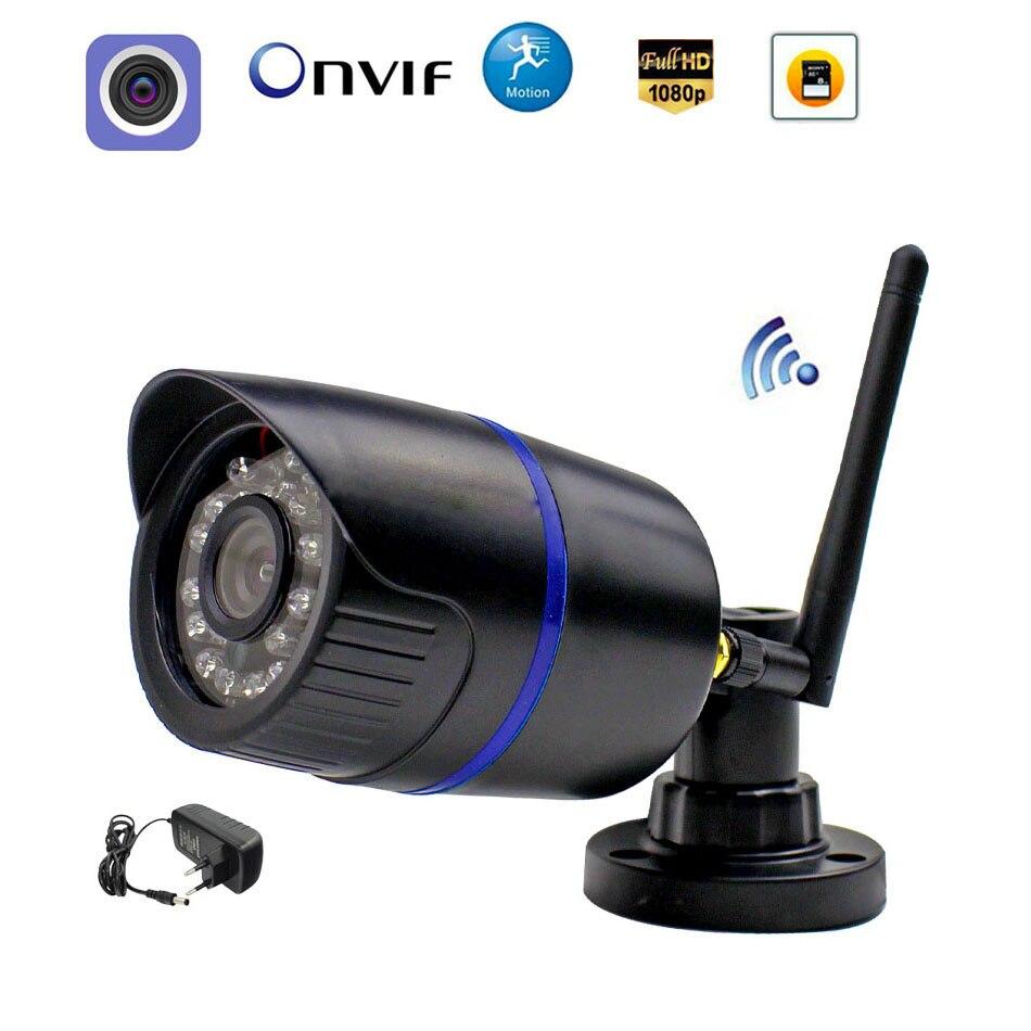 1080P WI-FI Câmera IP Sem Fio 960P 720P ONVIF Wired P2P Bala Câmera Ao Ar Livre Com Slot Para Cartão SD CCTV Segurança Vigilância CamHi