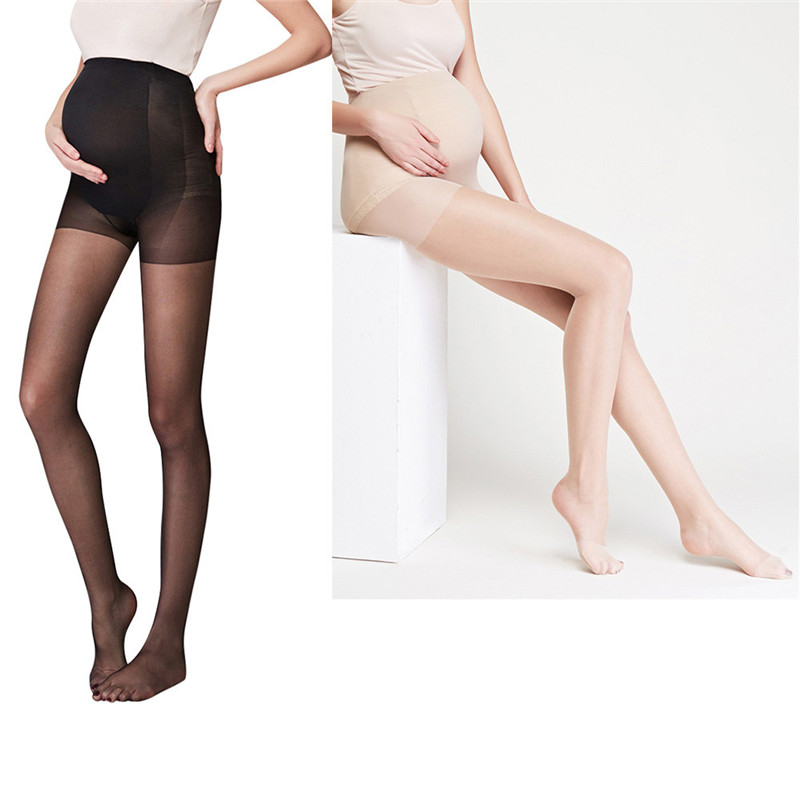 TELOTUNY Womens Tattoo Tights Pregnancy Pantyhose Solid Silk Stockings Siamese Tights For Pregnant Women 1207
