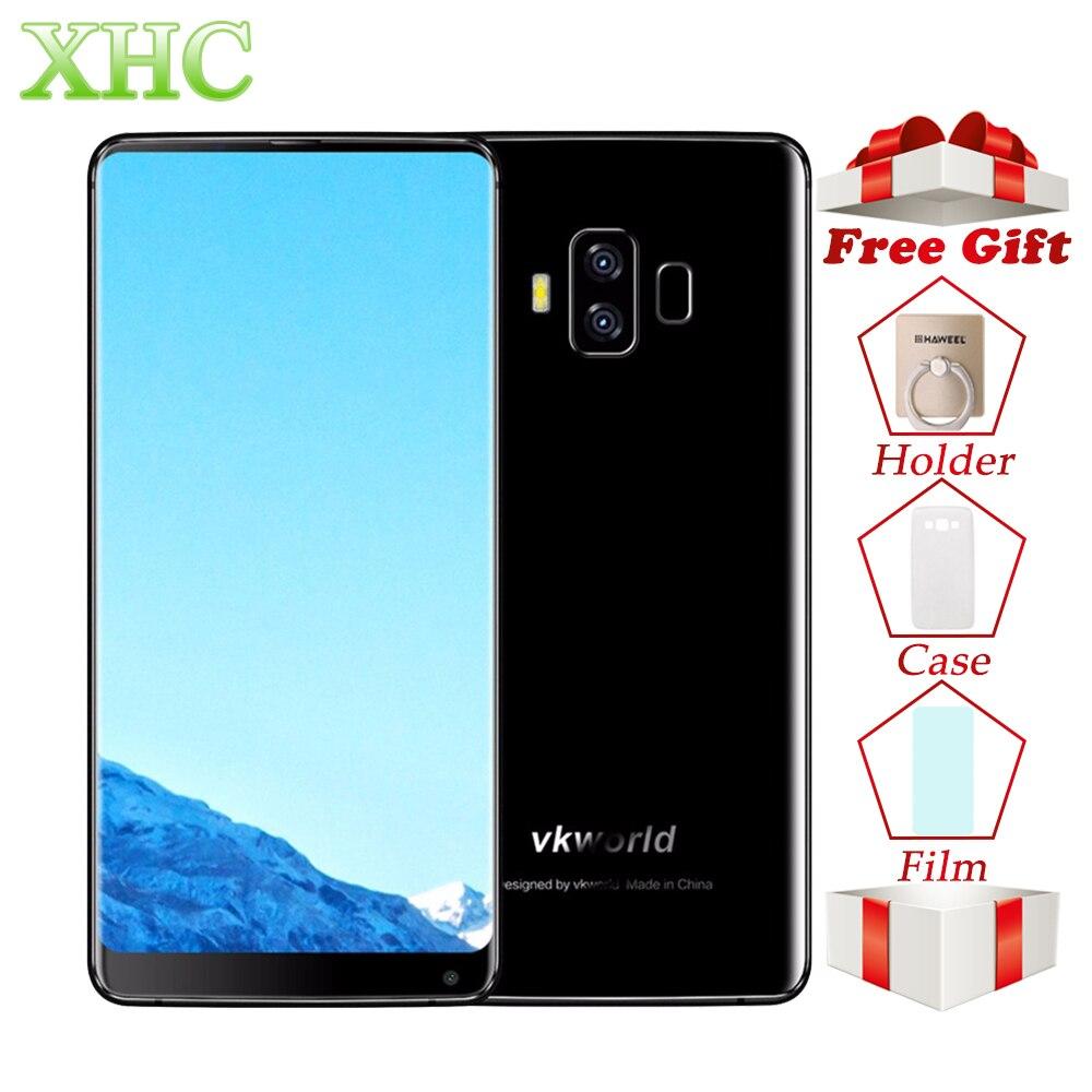 4g VKworld S8 16MP + 13MP Caméras Mobile Téléphones D'empreintes Digitales 5500 mah 5.99 pouce Plein Écran Android 7.0 MTK6750T 4 gb + 64 gb Smartphone