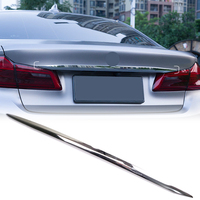 For BMW 5 SERIES G30 2017 2018 ABS Rear Tail Trunk Lid Decoration Cover Trim 1pcs