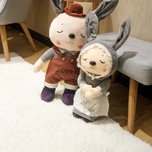 1 Pair/set Doll Decoration Home Decor Figurines Gift Party Ornaments Table Accessories Miniature Couple Rabbit Lover Toy Animal diy mini rabbit spring decoration toy doll couple bunny decoration micro landscape decoration accessories
