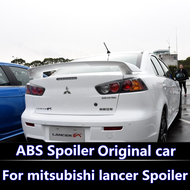 For LANCER EX 2010 2016 Spoiler High Quality ABS Material Car Rear Wing Primer Color Rear Spoiler For Mitsubishi LANCER Spoiler|Spoilers & Wings| |  - title=