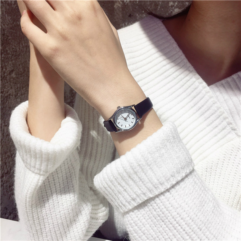 Ladies Watch Elegant Small Dial Leather Wrist Watches Women Popular Quartz Casual Watch Simple Gift Clock 19cm Wrist wireless service call bell system popular in restaurant ce passed 433 92mhz full equipment watch pager 1 watch 7 call button