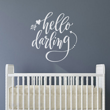 Lovely hello Phrase Wall Decal Art Vinyl Stickers For Babys Rooms Mural Custom