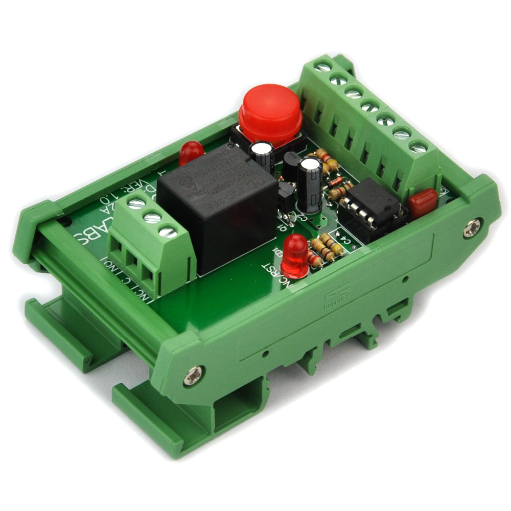 ELECTRONICS-SALON Panel Mount Momentary-Switch/Pulse-Signal Control Latching SPDT Relay Module,12VELECTRONICS-SALON Panel Mount Momentary-Switch/Pulse-Signal Control Latching SPDT Relay Module,12V