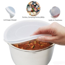 Pojemnik wewnętrzny zaślepka uszczelniająca świeża pokrywa pokrywka silikonowa pokrywa dla garnek błyskawiczny 6qt tapas de silicona para alimentos stożek de ulubione kuchnia: Hot