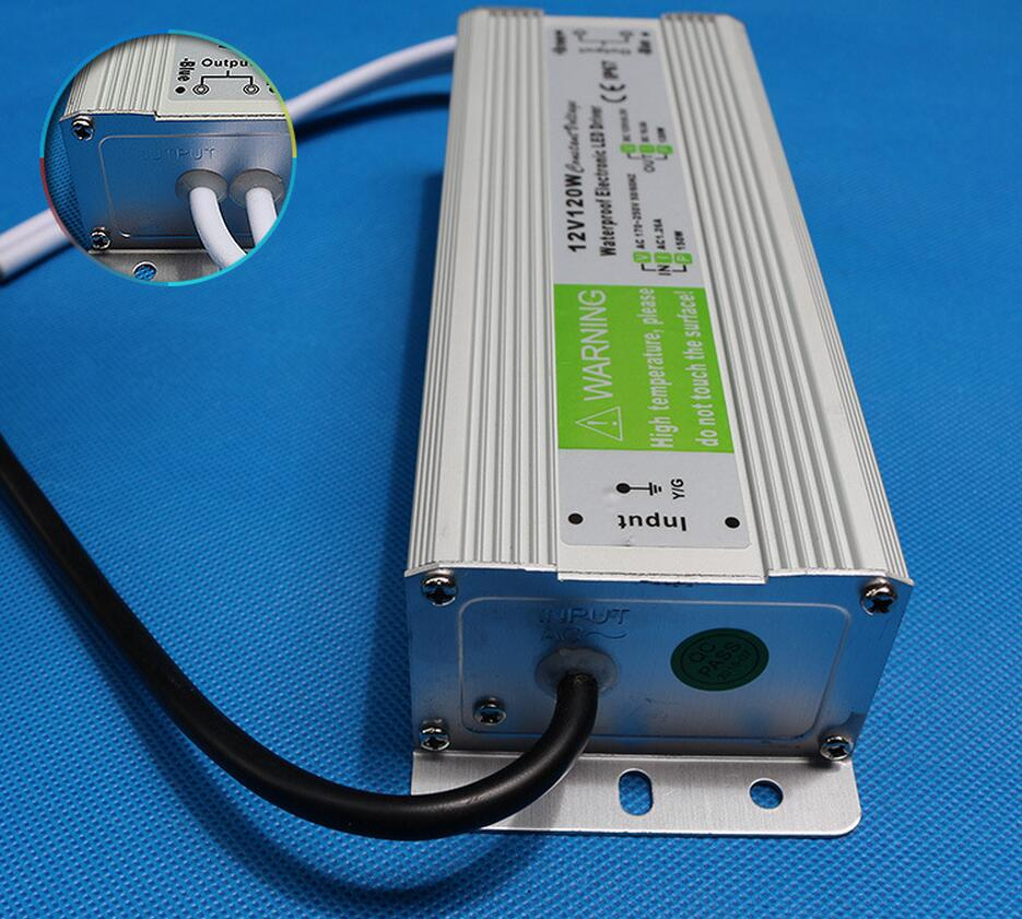DC12V 120W IP67 Waterproof LED Driver Transformer Power Supply FREE SHIPPING  free shipping 5pcs lot 150w hot selling ac90 250v to dc12v or dc24v transformer ip67 waterproof led driver power supply