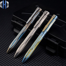 New Titanium Tactical Pen Tungsten Steel Girl Self-defense Supplies Defense Tool EDC