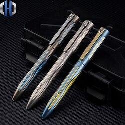 Nowy tytanu długopis taktyczny wolframu stali nierdzewnej dziewczyna samoobrony dostaw obrońców i staje w sytuacji sam narzędzie EDC w Zewnętrzne narzędzia od Sport i rozrywka na