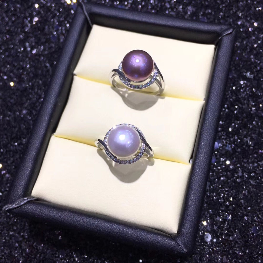 Beautiful Fashion Pearl Ring Mountings Ring Findings Adjustable Ring Jewelry Parts Fittings Accessories Silver Jewellery