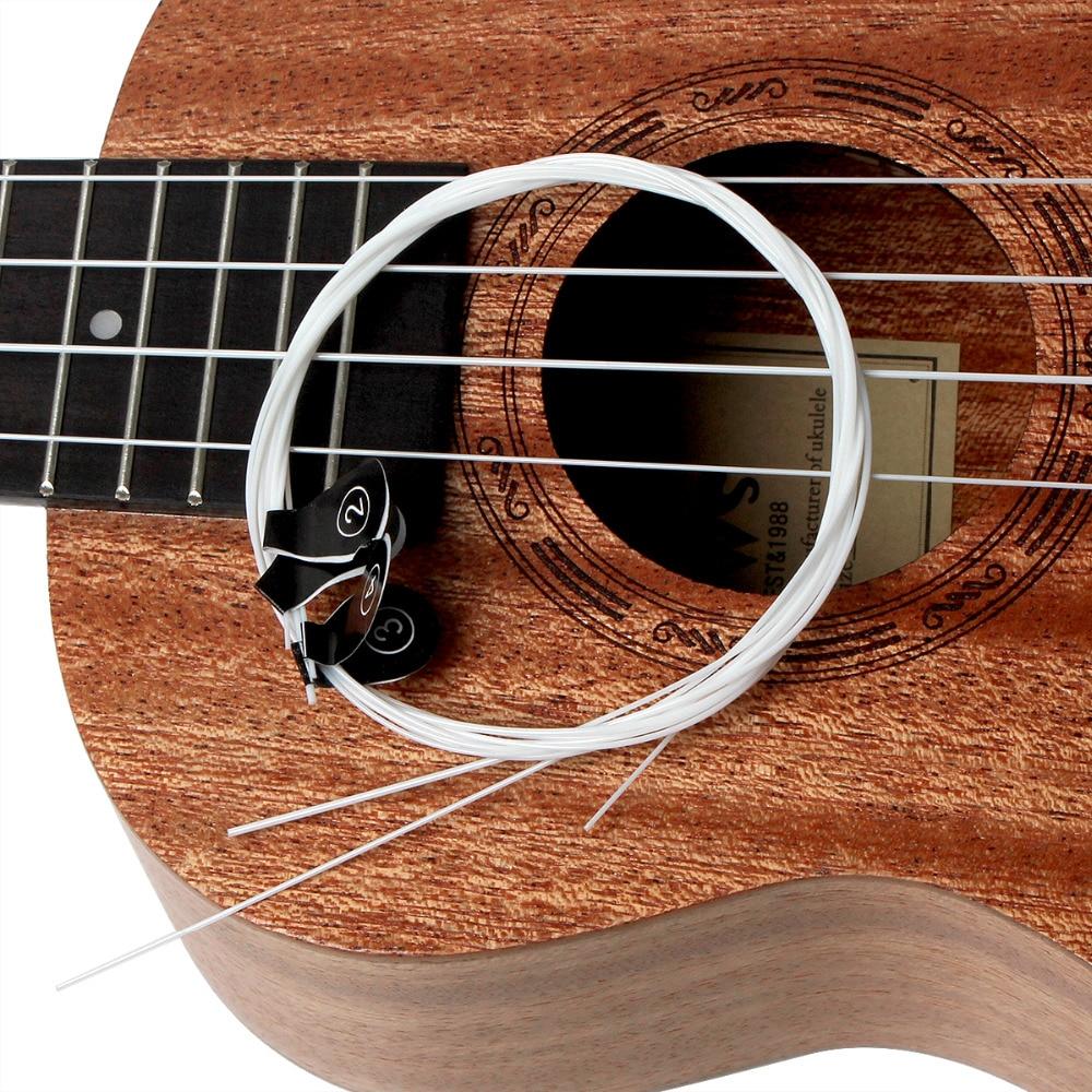 3 sets ukulele strings white nylon hawaii 4 strings guitar ukelele 1st 4th strings musical. Black Bedroom Furniture Sets. Home Design Ideas