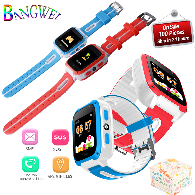BANGWEI LED Color Touch Screen Children SmartWatch LBS Positioning Tracker Kids Watches SOS Security Baby Watch Support SIM Card children watch color screen insert card call illumination kids watches men women positioning touch clock boys girls reloj nino