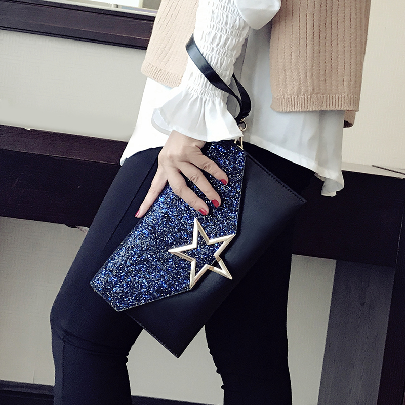 Women Clutch Handbags Fashion Star Messenger bags For Female Chain Shoulder Bags B79 bolsa feminina pu bolsa feminina bolso mujer crossbody bags for women messenger bag women messenger bags clutch female