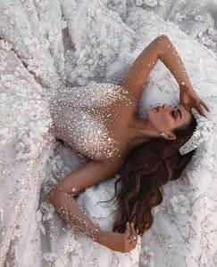 Image 3 - Vestidos De Novia 2020 Arabisch Luxus Perlen Spitze Hochzeit Kleid Lange Hülse 3D Floral Hochzeit Brautkleider robe de mariee