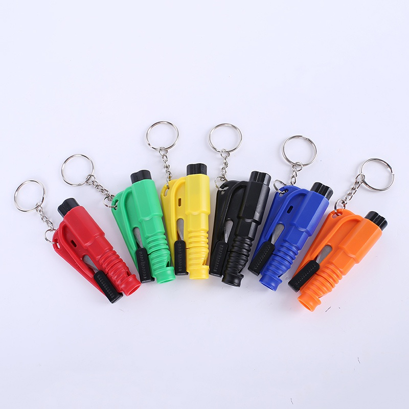 Handwerkzeuge Tasche Auto 5 Stücke Glas Fenster Brechen Hammer Sicherheitshammer Escape Rescue Tool Mit Schlüsselanhänger Sicherheitsgurt Messer Cutter Hammer