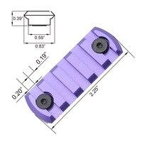 5 Slots 2 2 Purple AR15 M4 M16 Carbine Handguard Weaver Rail For Attaching Optics Lasers