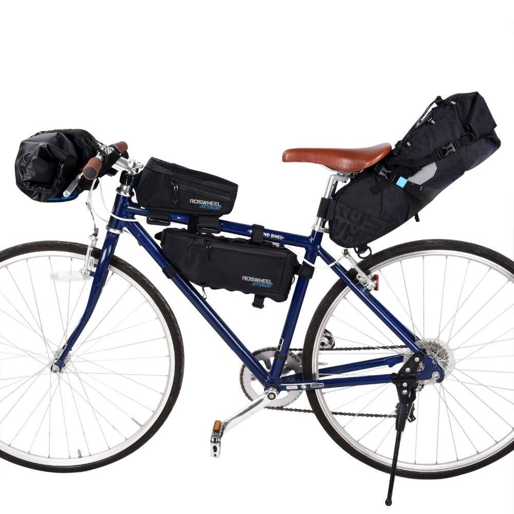 ROSWHEEL атака Велосипедный спорт Передняя труба сумка для велосипеда на руль пакет велосипедная сумка Цикл Велоспорт Storag спереди сумка для ра...