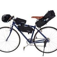 ROSWHEEL ATTACK przód roweru worek rurkowy torba rowerowa na kierownicę Pack kosze rowerowe cykl kolarstwo Storag przednia rama Pannier akcesoria w Torby i sakwy rowerowe od Sport i rozrywka na