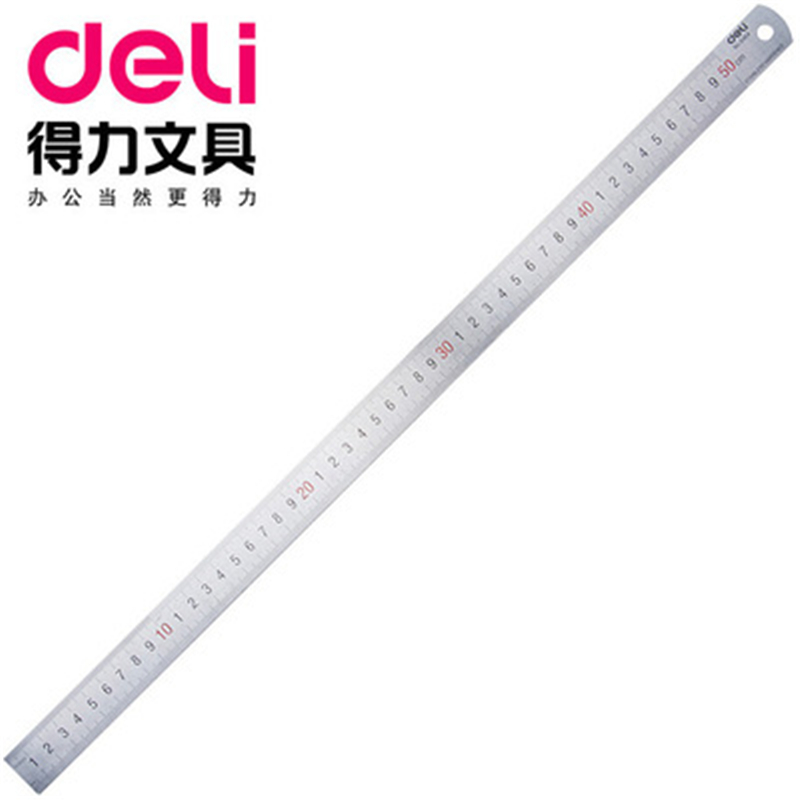 DL Effective 8464 50cm Steel Ruler Drawing Steel Metal Ruler Stainless Stationery Office Supplies For Students