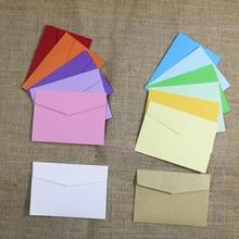 Маленькие бумажные конверты 10 шт 14 конфетных цветов открытка свадебный подарок пригласительный конверт офисный канцелярский бумажный пакет 11,5x8 см