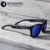 SKADINO Beech Full Wood UV400 Polarized Sunglasses Fashion Sun Glasses for Women Men Coated Blue Lens Handmade Brand Cool