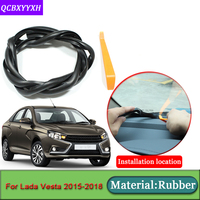 Car-styling For Lada Vesta 2015-2018 Anti-Noise Soundproof Dustproof Car Dashboard Windshield Sealing Strips   Auto   Accessories