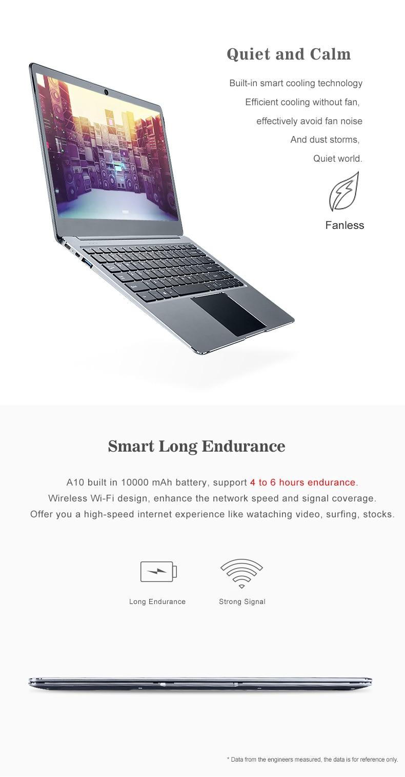 ZEUSLAP 14inch 6gb ram 64gb emmc 128gb ssd Intel quad core windows 10 system ultrathin 1920X1080p fhd laptop notebook computer