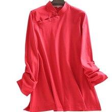 Suits Martial-Arts Kung-Fu Cotton Shirts Meditation-Uniforms Lay Spring Tai-Chi-Tang
