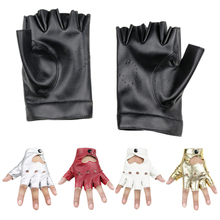 PU Leather Women Gloves Stylish Hand Warmer Winter Gloves Women Heart Hollow Warm Fingerless Gloves Gants Femme цена