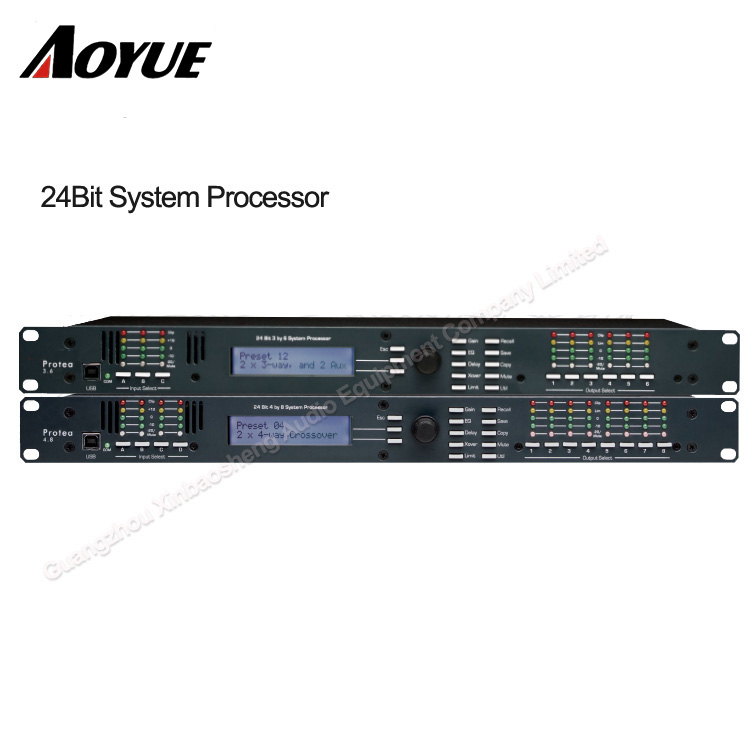 karaoke professional 3 input 6 input digital audio processor dsp AS-3.6 dsp professional wet