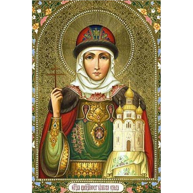 5d Diy Square Diamond Painting Religion Madonna Mosaic True