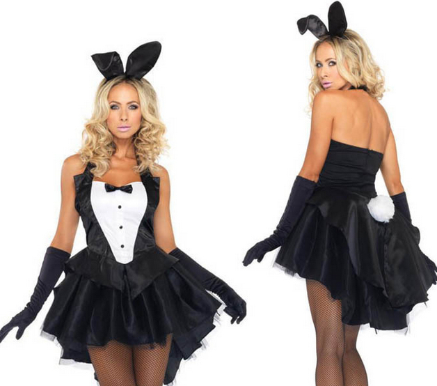 Christmas costumes <font><b>halloween</b></font> women Xmas <font><b>sexy</b></font> <font><b>lingerie</b></font> Dovetail pole dance bunny fantasias Rabbit girl eroticas uniform nightclub image
