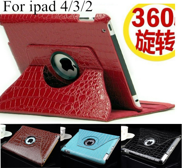 ipad 234 tablet case Magnetic Smart pu leather Cover mini1 2 3 mini 360 Degrees Rotating Stand sell - Nordson Digital store