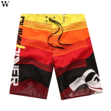 Летние мужские Шорты повседневные пляжные шорты с высокой талией однотонные прямые шорты на кулиске Mar28